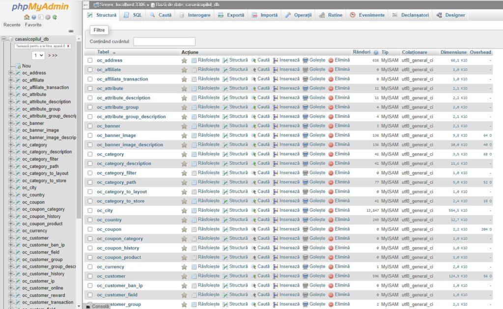 PHPMyAdmin back-up site